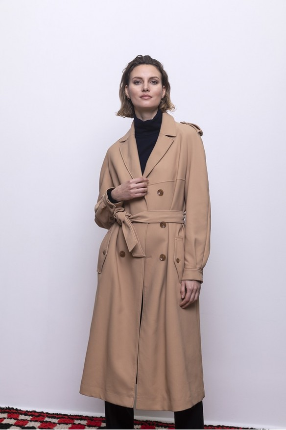 Trench long camel