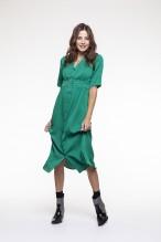 Emerald green fluid dress