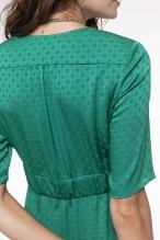 Robe fluide vert émeraude