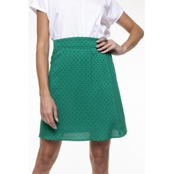 Emerald green fluid skirt