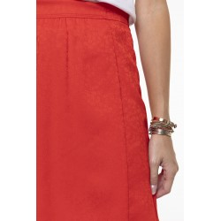 Poppy red fluid skirt