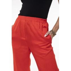 Pantalon fluide rouge coquelicot