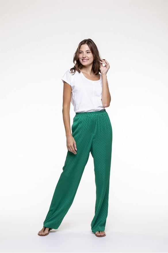 Emerald green fluid pants