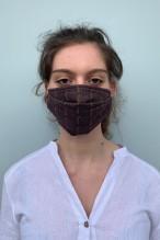 Packs of 2 brown barrier mask