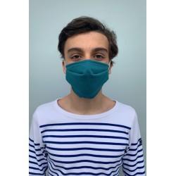 Lot de 2 masques barrières bleu canard
