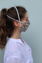 Packs of 2 barrier mask with pop patterns