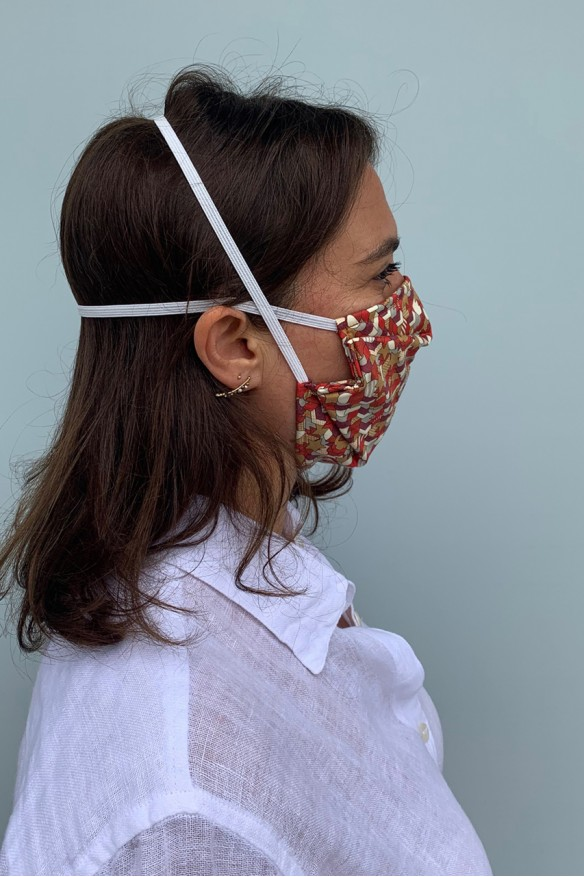 Packs of 2 barrier mask with star motifs
