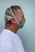 Lot de 2 masques barrières vert amande