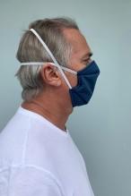 Lot de 2 masques barrières bleu denim