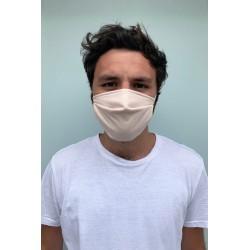 Lot de 2 masques barrières rose poudre