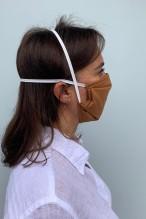 Packs of 2 caramel coloured barrier mask