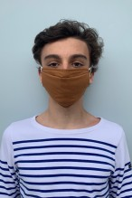 Lot de 2 masques barrières caramel