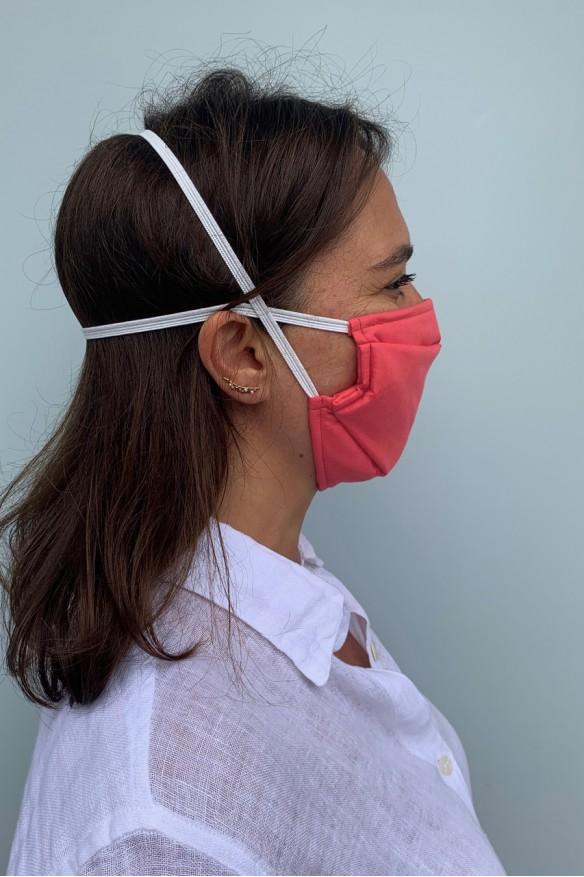 Lot de 2 masques barrières rose corail