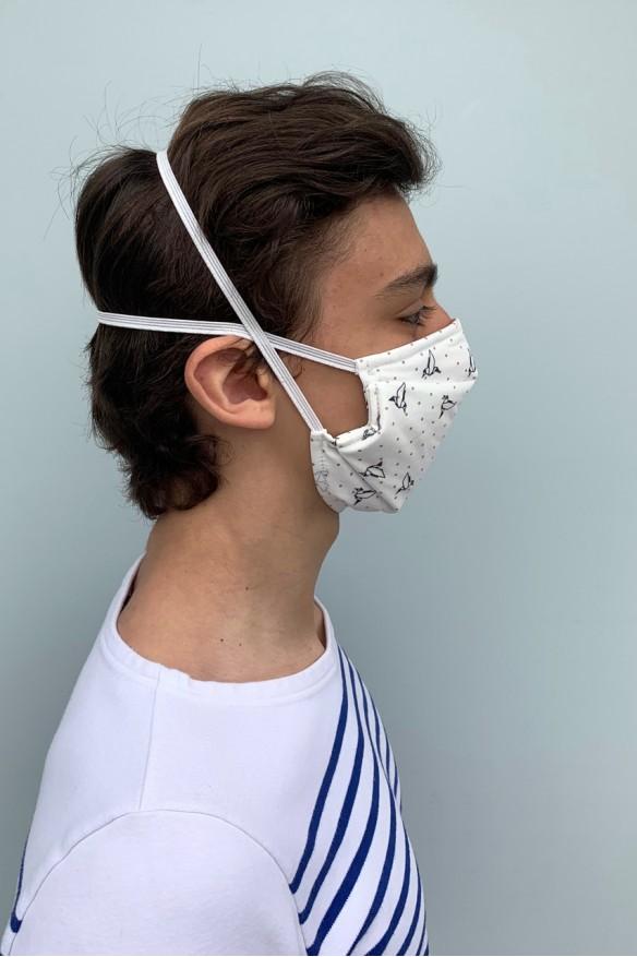 Lot de 2 masques barrières à l'imprimé origami