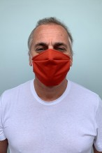 Lot de 2 masques barrières orange citrouille