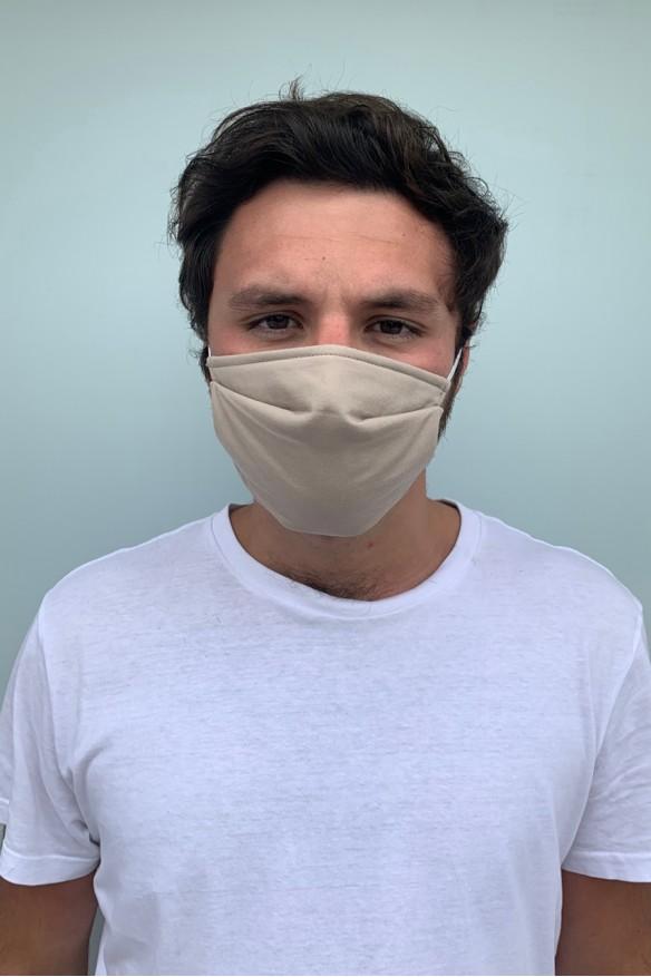 Lot de 2 masques barrières grège