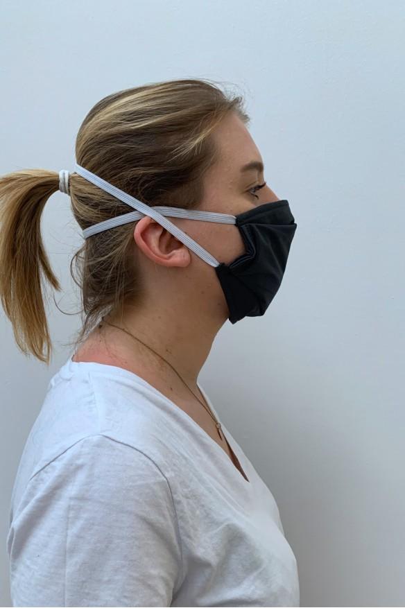 Lot de 2 masques barrières gris foncé