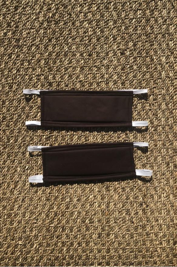 Lot de 2 masques barrières chocolat