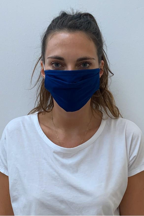Lot de 2 masques barrières indigo