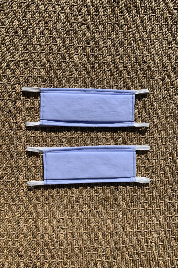 Packs of 2 blue sky barrier mask