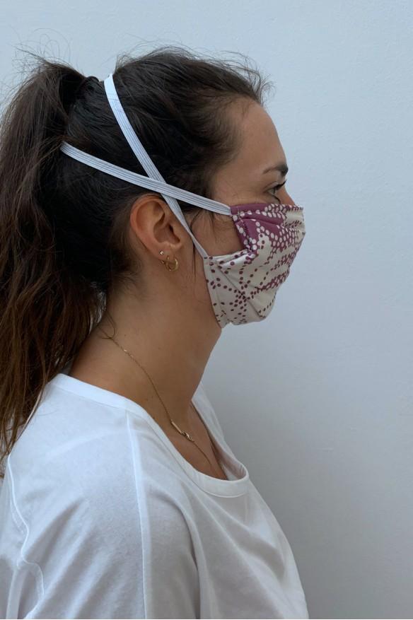 Lot de 2 masques barrières parme fleuri