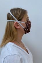 Packs of 2 stared plum barrier mask