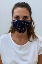 Lot de 2 masques barrières imprimé oiseaux