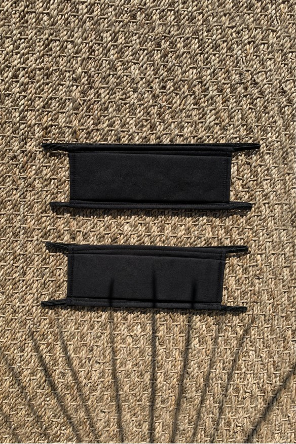 Packs of 2 black barrier mask