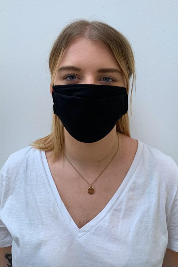 Packs of 2 black barrier mask