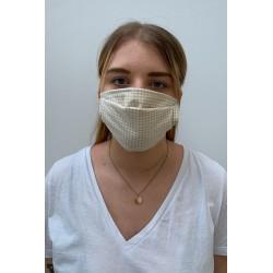 Lot de 2 masques barrières vichy beige