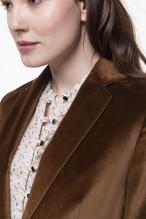Smooth camel velvet jacket