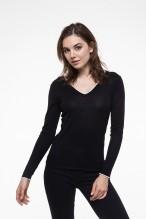 V-neck wool black & white sweater