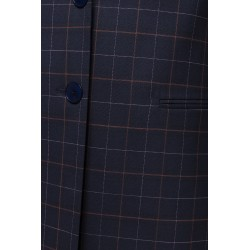 Navy Checkered Blazer