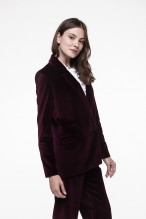 Garnet smooth velvet  jacket