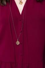 Garnet long sleeved fluid top