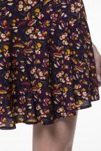Jupe-culotte à l'imprimé fleuri fond marine