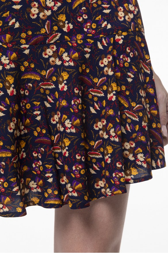 Floral printed shorts skirt