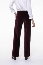 Garnet smooth velvet straight pants
