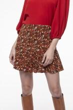 Printed shorts skirt