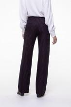 Striped straight pants