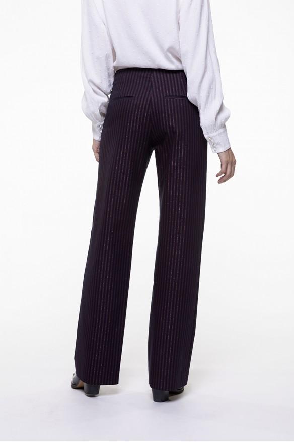 Pantalon droit à rayures