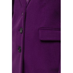 Masculine plum cashmere overcoat