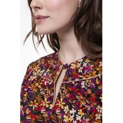 Top manches longues à l'imprimé floral coloré