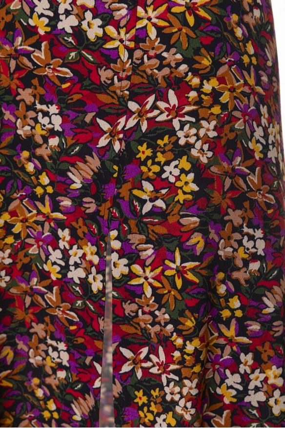 Colored printed midi skirt