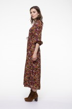 Colored floral printed kneelenght dress