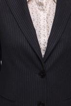 Black and off-white fine striped blazer