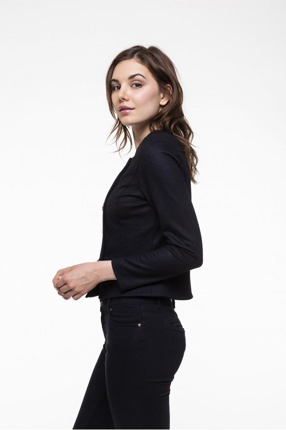 Black wool blended jacket