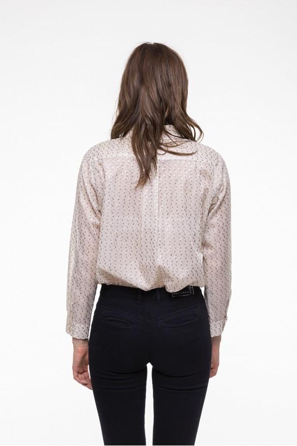 Floral printed cotton shirt