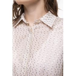 Chemise en coton à l'imprimé fleuri