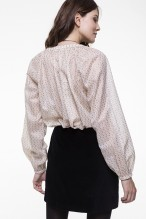 Floral printed cotton blouse